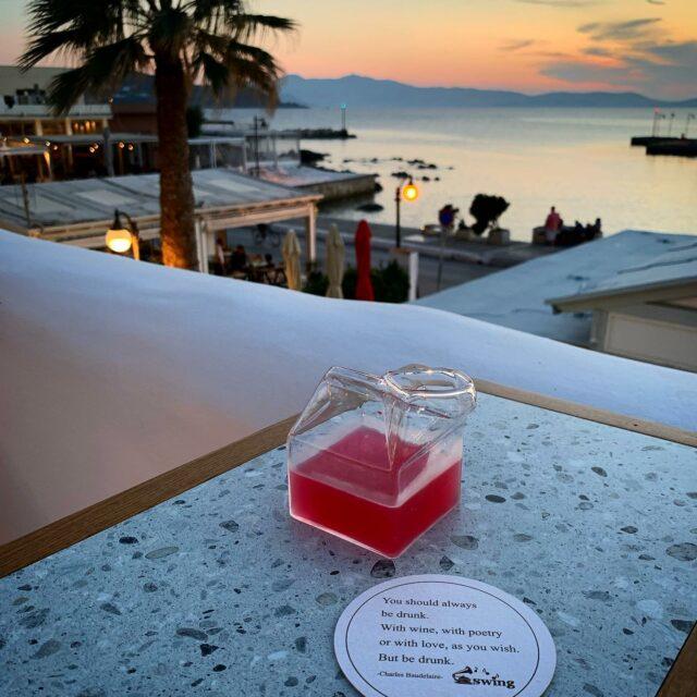 Early Drinks !!  #naxos #naxosisland #naxos_island #ig_naxos #naxosgreece #greekislands #cocktails #cocktailbar #naxosgreece #greekgastronomy #gastronomia #visitgreece #sunsets #sunset #drinks #swingbarnaxos #cyclades #cocktailporn   #greece  #summer #travel #islands #island #summeringreece #aegean  #travelgreece